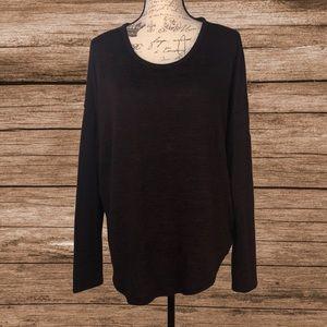 rag and bone black heathered sweater top sz Lg